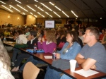 Audience Listens to Mad As Hell Doctors presentation, UIC College of Pharmacy, Saturday Sept. 26