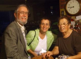 Lew & Diana with community activist Flora Martinez, Planada, Ca. 7/16/09