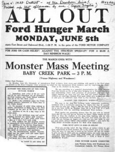 Hunger March Detroit