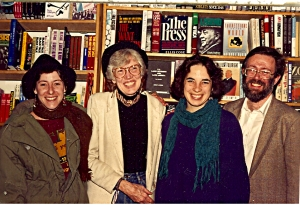 Renny Golden with singers in a Latin American, Nueva Trova group I knew in Los Angeles (Erica on left) at Guild Books ca 1988-9